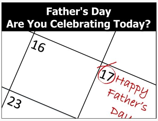 Father's Day : Are You Celebrating Today?