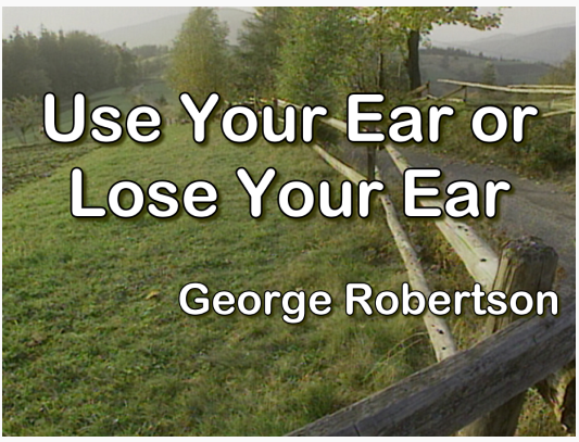 Use Your Ear or Lose Your Ear